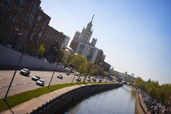 Tráfego de Moscovo Fotografia de Stock