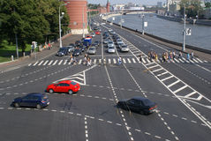 Tráfego de Moscovo Imagem de Stock