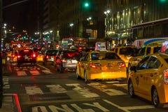Tráfego de New York City imagem de stock royalty free