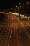 Tráfego de nighttime Fotografia de Stock