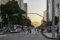 Tráfego de Rio de janeiro Imagem de Stock