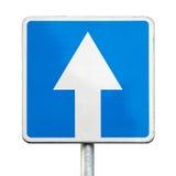 Tráfego de sentido único - sinal de estrada isolado fotos de stock
