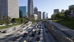 Tráfego do centro de Los Angeles - lapso de tempo vídeos de arquivo