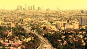 Tráfego do centro de Los Angeles - lapso de tempo video estoque