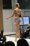 Tráfego do roupa interior da cor de Moscou da expo de Lingrie do desfile de moda Foto de Stock Royalty Free