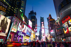 Tráfego do Times Square Fotografia de Stock Royalty Free