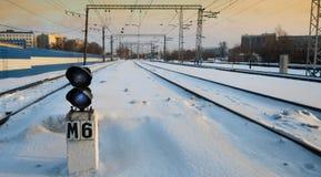 tráfego do trem na estrada de ferro 2 Fotografia de Stock