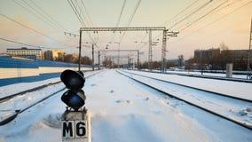 tráfego do trem na estrada de ferro Imagens de Stock