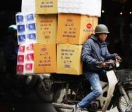 Tráfego do velomotor em Vietnam Fotografia de Stock Royalty Free