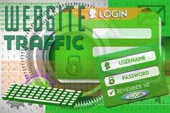 Tráfego do Web site Imagens de Stock