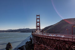 Tráfego em golden gate bridge - San Francisco, Califórnia, EUA Fotos de Stock Royalty Free