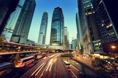 Tráfego em Hong Kong imagens de stock royalty free