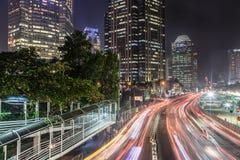 Tráfego em Jakarta, capital de Indonésia Fotos de Stock