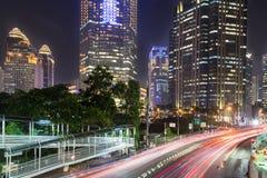 Tráfego em Jakarta, capital de Indonésia Fotos de Stock Royalty Free