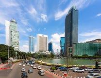 Tráfego em Jakarta da baixa Fotos de Stock