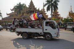 Tráfego em Myanmar Fotografia de Stock