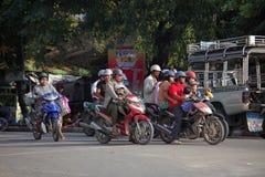 Tráfego em Myanmar Fotografia de Stock Royalty Free