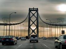 Tráfego em uma ponte Fotografia de Stock Royalty Free