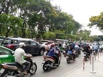 tráfego a Ho Chi Minh Vietnam Imagem de Stock