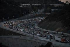 Tráfego Los Angeles 2016 de 405 autoestrada Fotografia de Stock Royalty Free