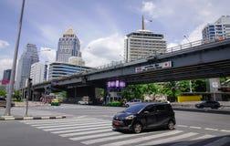 Tráfego na baixa em Banguecoque, Tailândia Foto de Stock Royalty Free
