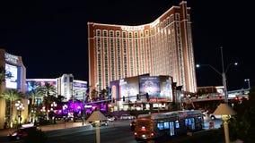 Tráfego na tira de Las Vegas na noite filme