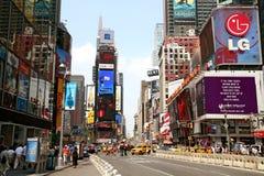 Tráfego quadrado de New York Times Foto de Stock
