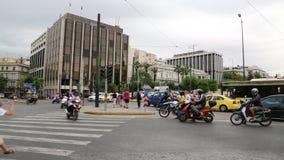 Tráfego rodoviário em Atenas filme