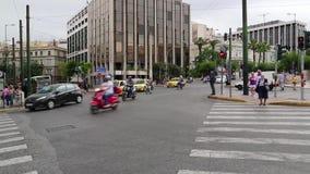 Tráfego rodoviário em Atenas, Grécia video estoque