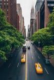 Tráfego rodoviário em New York imagens de stock