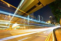 Tráfego urbano moderno Foto de Stock Royalty Free