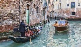 Tráfego Venetian Fotos de Stock Royalty Free
