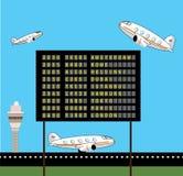 Tráfico aéreo Foto de Stock Royalty Free