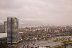 Tráfico aéreo del paisaje urbano de Canadá de la Columbia Británica de Vancouver fotos de archivo
