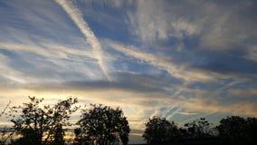Tráfico aéreo en la mañana Fotos de archivo libres de regalías