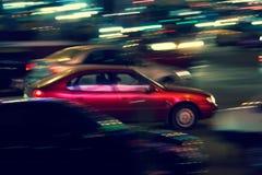 Tráfico abstracto de la noche Imagenes de archivo