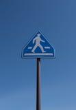 Tráfico amonestador, señal de tráfico del tráfico peatonal aislada en blanco Fotos de archivo libres de regalías