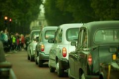 Tráfico auto en la ciudad de Lonon Fotografía de archivo