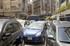Tráfico, Beirut, Líbano Imagen de archivo
