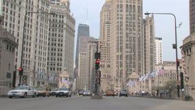 Tráfico Chicago almacen de metraje de vídeo