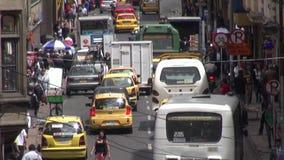 Tráfico, coches, caminos, país en desarrollo, conduciendo almacen de video