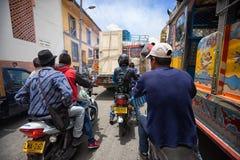 Tráfico congestionado en Colombia fotos de archivo