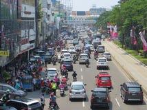 Tráfico congestionado en Jakarta fotos de archivo