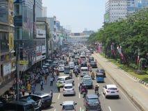 Tráfico congestionado en Jakarta imagenes de archivo