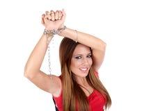 Tráfico da mulher Foto de Stock Royalty Free