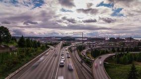 Tráfico de alto impacto en Seattle almacen de metraje de vídeo