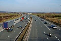 Tráfico de autopista Imagenes de archivo