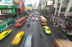 Tráfico de Bangkok Fotografía de archivo libre de regalías