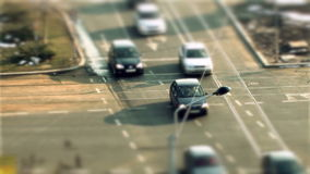 Tráfico de Bucarest, cambio inclinable almacen de metraje de vídeo