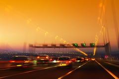Tráfico de camino Fotografía de archivo